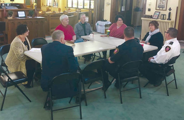 Provided photo Congressman Warren Davidson was in Piqua on Tuesday, April 16 visiting the Piqua Compassion Network.