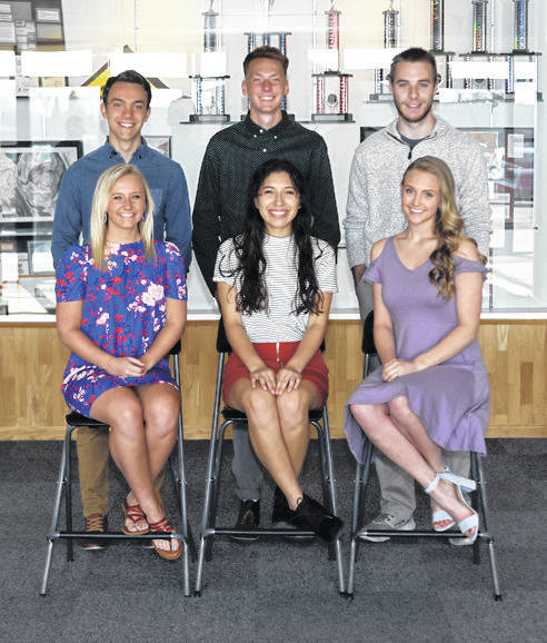 Lee Woolery | For Miami Valley Today Members of the Troy Christian High School Prom Court include, front row, from left, Riley Spoltman, Carolin Lozano, and Rachel Plummer. Back row, Isaac Flora, Tristan Miller, and Trent Bianco. The prom will be held Friday, April 5 with dinner and dancing at The Dayton Art Institute. An after bash will be held at GetAir in Huber Heights.