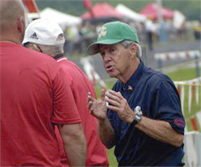 Provided photo Long-time Milton-Union Track and Field coach Kenneth A. Beard will be honored Saturday with the renaming of the track surface in his honor.