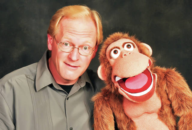 Provided photo Ventriloquist/juggler Mike Hemmelgarn will bring his act — including furry friend Bongo and other characters — to Taste of the Arts on Friday, May 10, in downtown Piqua.