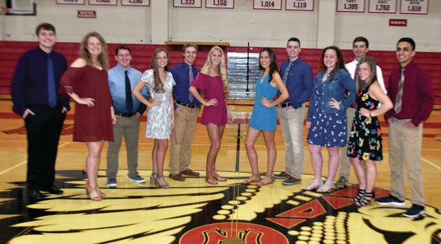 "Newton High School has announced its 2019 Prom Court. Queen candidates include, l-r: Mallory Dunlevy, Halli Gipe, Madison Hildebrand, Michaela Kirk, Erin Norman, and Alyssa Rapp. King candidates are, l-r: Bailly Abernathy, Dylan Kline, Ryan Mollette, Britton Schauer, Charles Walker, and Enon Weaver. Newton's prom will be held Saturday night at the Troy Country Club from 8 until 11 p.m with the after-prom being held at Newton High School. The theme for this year's prom is ""Hollywood"". ©2019 Miami Valley Today, all rights reserved"