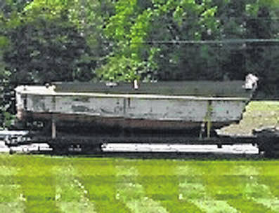 Provided photo The Higgins Boat will be on display June 1 at the Bradford Railroad Museum.
