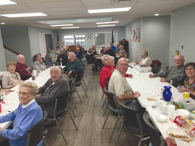 Provided photo Pictured is last months Saturday Euchre with nine tables at the Tipp City Seniors.