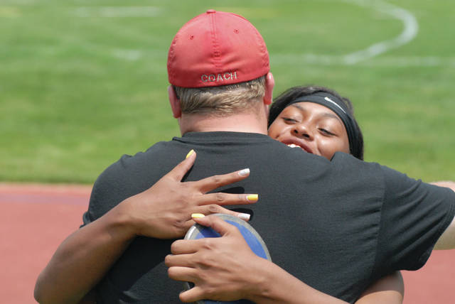 David Fong|Miami Valley Today file Troy's Lenea Browder was named the GWOC American North Division Field Athlete of the Year and Kurt Snyder was the Coach of the Year this spring.