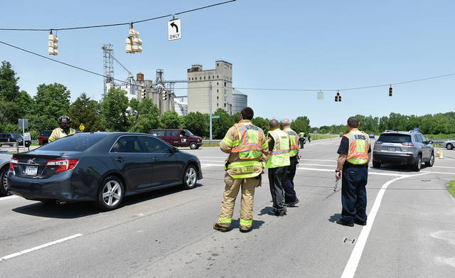 The intersection of Co. Rd. 25-A and Eldean Roads was closed for nearly an hour on Monday after a passing semi took out power lines, dropping them across the highway. Two people were briefly trapped in their vehicles until Troy Firefighters gave the all-clear. Dayton Power & Light was called to repair the damage. There were no injuries reported.