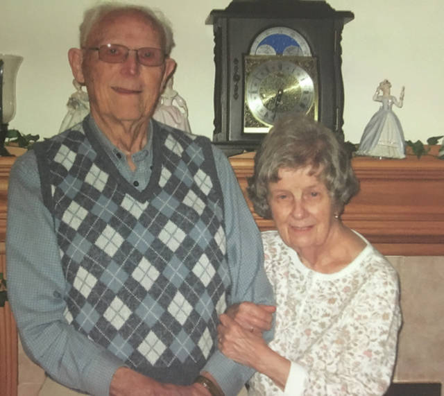Provided photo Luther and Henrietta (Plassman) Baden are celebrating their 70th wedding anniversary this month.