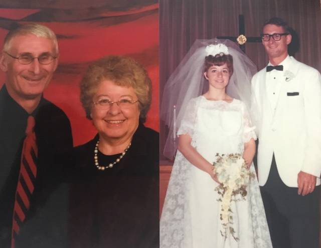 Provided photo Nick and Darlene Mott of Tipp City celebrated their 50th anniversary this month. They were married at the Troy Church of the Brethren on June 21, 1969.
