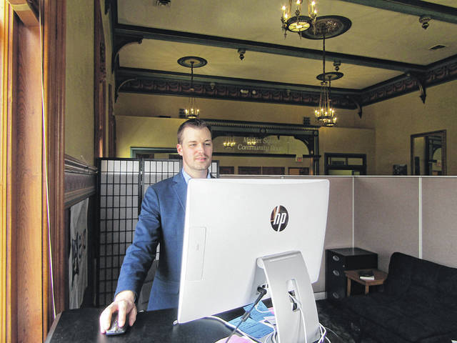 """Matt Clevenger   For Miami Valley Today EXP Realty uses specialized software that allows clients to choose an avatar and interact with different office departments virtually through a video game-style interface. Home buyers and sellers can walk around this digital landscape, and even visit company officials in their """"offices"""" to have conversations with them."""