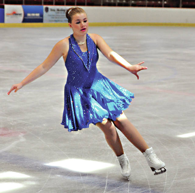 Alexa Wiles of the Kalamazoo Skating Club performs at Hobart Arena on Thursday during the Troy Skating Club's 44th annual Kathy Slack Troy Summer Competition. The event will be held through July 14.