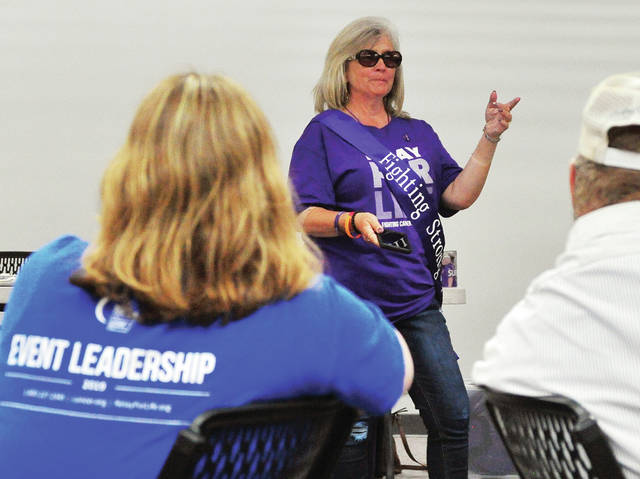 Miami County Relay for Life Chairperson fro both 2018 and 2019 Belinda Anderson leads her final meeting before turning the reins over to 2020 Co-Chairpersons Halee Mollette and Cheryl Adkins during Tuesday's RFL 2019 wrap-up meeting at the Miami Valley Centre Mall. Anderson plans to continue to captain a Relay team and remain closely involved with Relay For Life. The current total raised for the 2019 campaign in Miami County stands at just over $124,000. The official end of the 2019 Relay for Life effort is the first week of August. ©2019 Miami Valley Today. All rights reserved.