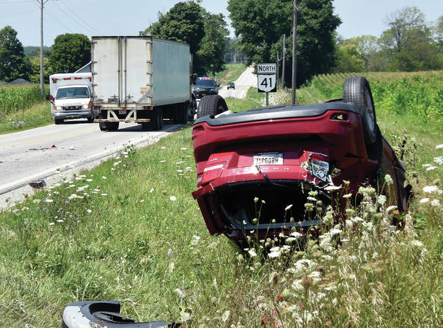 One person was injured when a SUV pulled into the path of a semi on St. RT. 41 at St. Rt. 201 on Saturday afternoon. The driver of the SUV was injured by not seriously in the crash which occurred around 1:15 p.m. The crash is being investigated by the Miami Co. Sheriff's Office.
