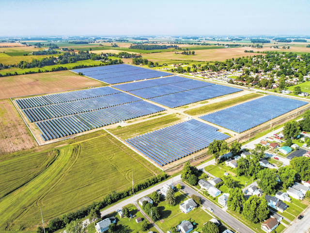 Provided photo NextEra's second solar field in Piqua, located on 86 acres off of Manier and McKinley avenues, which was recently completed and is now providing commercial power. The solar field is owned by NextEra and is providing solar power through American Municipal Power's ongoing solar field project, of which the city of Piqua is a member.