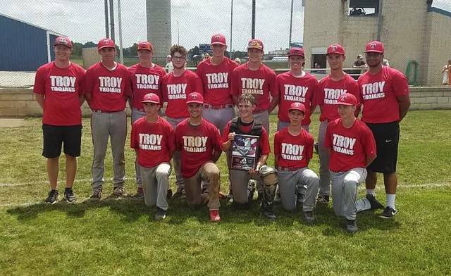 Photo Provided The Troy Acme baseball team coach by Greg Johnson recently qualified for the state Acme tournament for the first time in 30 years, beating Versailles 3-0 in the district finals. They open play in the state tournament Saturday.