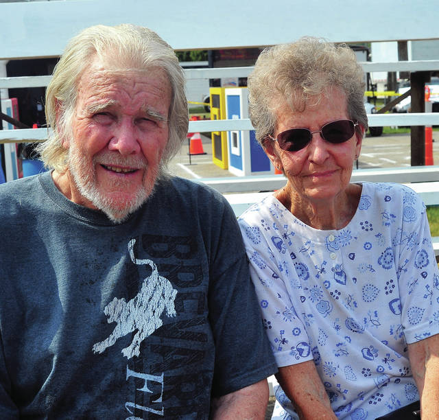 Jim and Shirley Williams, married 65 years, attend the Miami County Fair's Golden Anniversary photo on Wednesday.