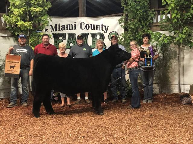 Paige Pence,16, of New Carlisle, won Grand Champion market steer at the Miami County Fair. She is a member of the Miami East FFA. She is the daughter of Brent and Christine Pence.