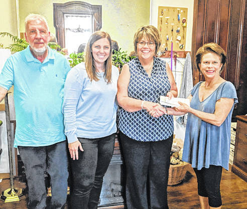 Provided photo GWYL member's checks were presented to Barb Holman, director of the Family Abuse Center, by GWYL Steering Committee members, Heidi Burton, Maggie Kenny, and Gary Kuziensky.