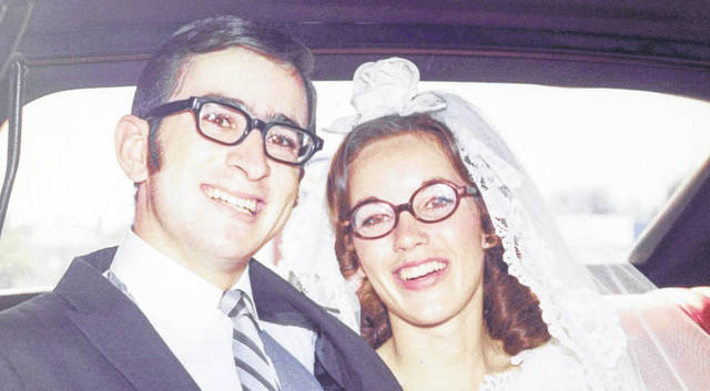 Provided photo Mel and Mary Beth (Morgan) Kemmer were married on Aug. 16, 1969 at First United Methodist Church in New Carlisle.