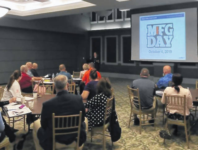 Provided photo On Aug. 20, the Piqua Area Chamber of Commerce, Grow Piqua Now and the city's educational partners hosted a Manufacturing Day (MFG Day) informational session for company leaders of Piqua-area manufacturing businesses at the Fort Piqua Plaza.