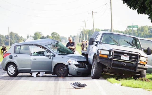 One person, a Troy City Schools employee, died in a two-vehicle accident at the intersection of state Route 589 and Middleton Hume Road on Sunday. Another person was transported by CareFlight to Miami Valley Hospital and two more were taken to Wilson Health by ambulance. The Shelby County Sheriff's Office is investigating the accident.