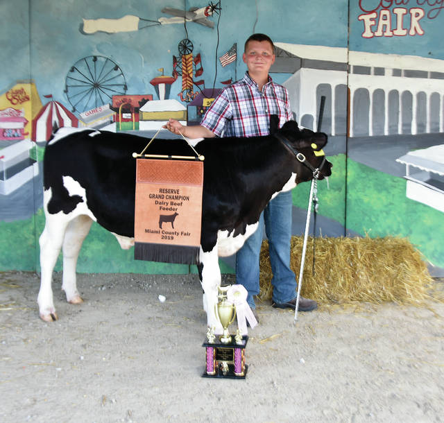 Ty Roeth, 13, from Troy, of Elizabeth Livestock 4-H club won Reserve Grand Champion Dairy Beef Feeder.
