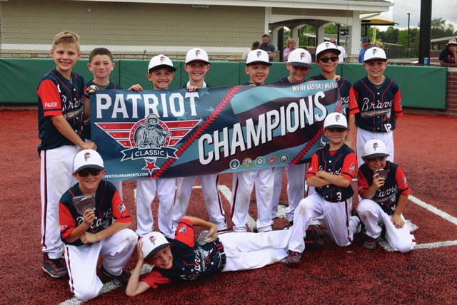 Photo Provided The Piqua Braves 9U baseball team won the Patriot Classic recently.