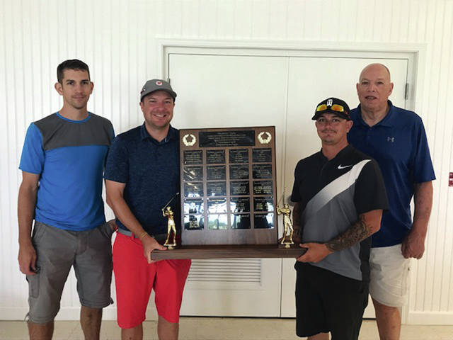 Photo Provided The low gross winners of the Dick Minnich Classic were Nate Fisher, Rick Pagniano, John Phillips and Bill Sutton.