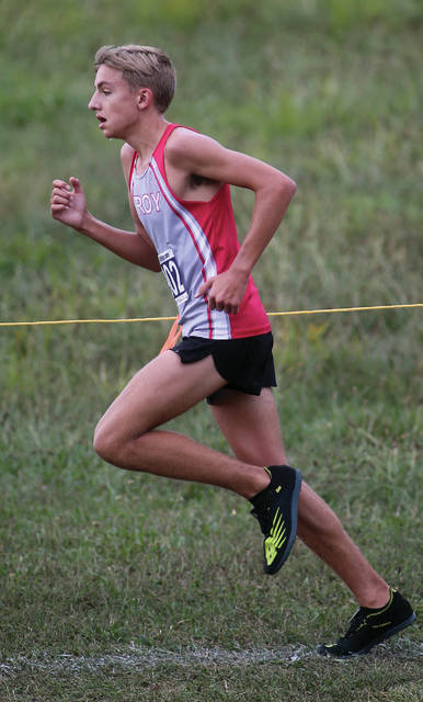 Lee Woolery|Miami Valley Today Troy's Braden Coate competes at the Troy Invitational Saturday.