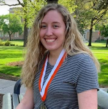 Courtesy photo  Honors College sophomore and Piqua native Chloe Koon is a 2018 Presidential Scholar Award winner and was awarded the Forsyth Award at Bowling Green State University.