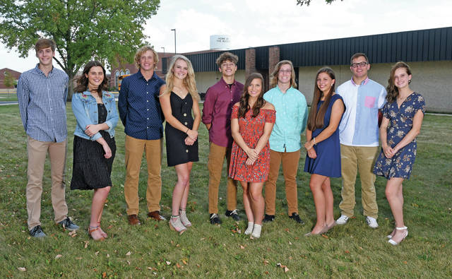 Provided photo From left to right, the 2019 Covington Homecoming Court includes: Zachary Kuntz, Marisa Fields, Cade Schmelzer, Makenzie Long, Spencer Brumbaugh, Maci White, Brayden Wiggins, Kirsti Barnes, Teague Deaton, and Haley Weer.