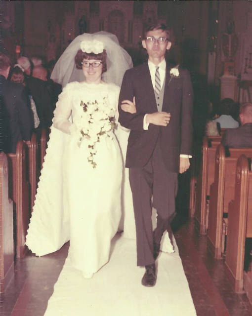 Provided photo Donald and Gloria (Bey) Stonerock were married on Sept. 19, 1969, at St. Remy Church in Russia.