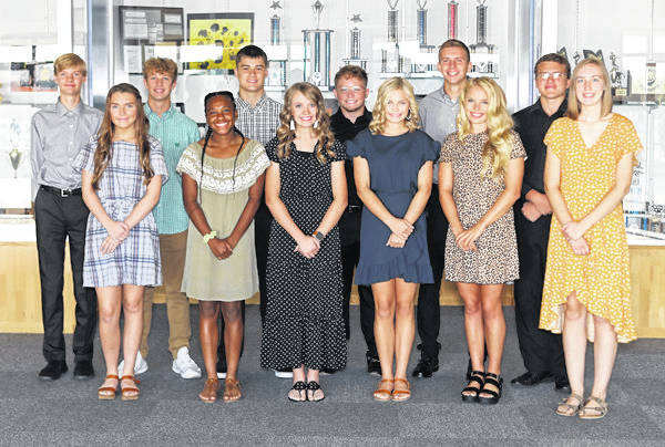 Lee Woolery | For Miami Valley Today The 2019 Troy Christian Homecoming Court has been announced. Members include, front row, from left, Lilly Smith, Zy Parker, Hope Sando, Ellie Smith, Gracie Glaser and Megan Baker. Back row , Noah Shook, Zach Weaver, Jason Blake, Craig Montgomery, Connor Peters and Jacob Johns. The Homecoming game is Friday, Sept. 27 at 7 p.m. vs. Meadowdale with the crowning of the king and queen at halftime. The high school Homecoming dance is Saturday, Oct. 28 at the Crystal Room in Troy.