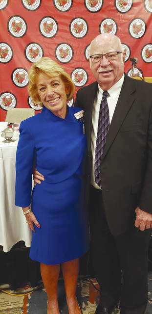 Provided photo Judge Mel Kemmer joined his wife, Mary Beth at her swearing in as president of the Ohio Federation of Republican Women.