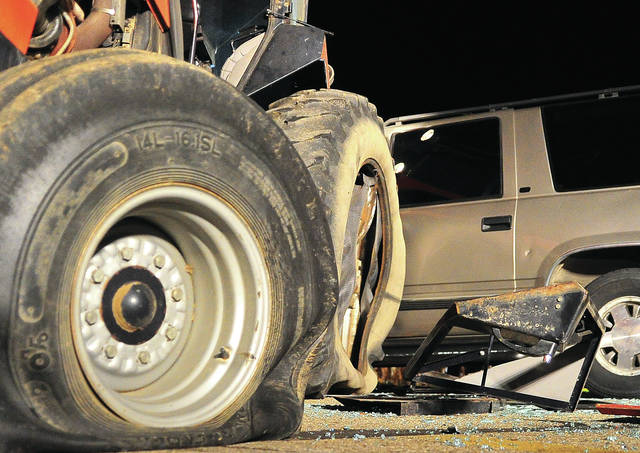 A crash involving a farm tractor and a SUV is under investigation by Miami County Sheriff's Office deputies. The crash occurred on Mowry Road just after 8 p.m. Monday.