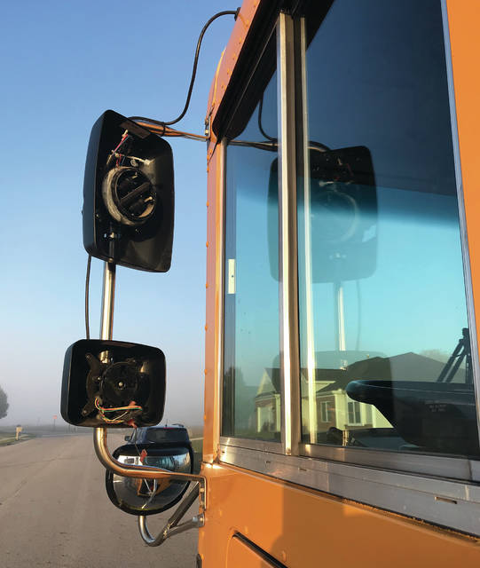 On Monday morning, a Troy City Schools bus was damaged as it was headed northbound on Washington Road in Piqua when it bumped mirrors with another bus, from Troy Christian Schools, headed south on Washington Road. There was one student, who was being transported to Piqua Catholic School, on the bus at the time. No one was injured in the incident. Another Troy City School bus transported the student to Piqua Catholic School.
