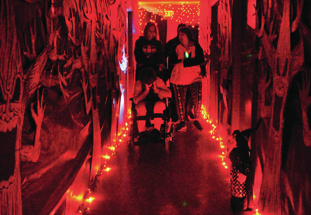 Workers at RT Industries in Troy celebrated Halloween with a haunted house on Thursday.
