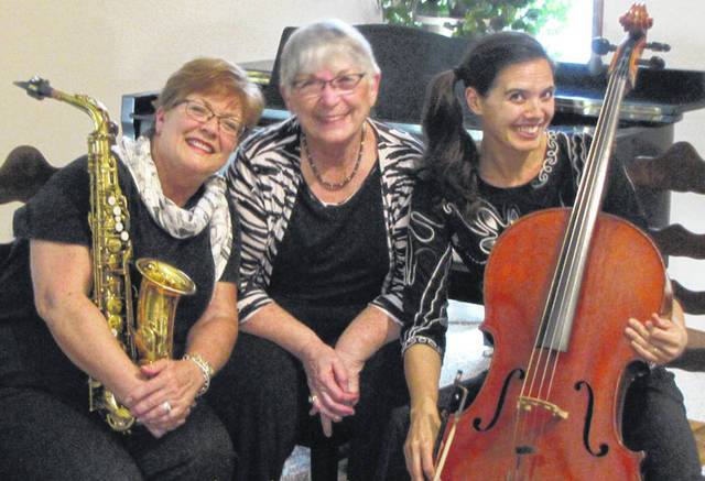 Provided photo Musicians in the group include Sharon Schwanitz, alto sax; Tara Mar Iddings, cello; and Yvonne Washer-Carson, piano.