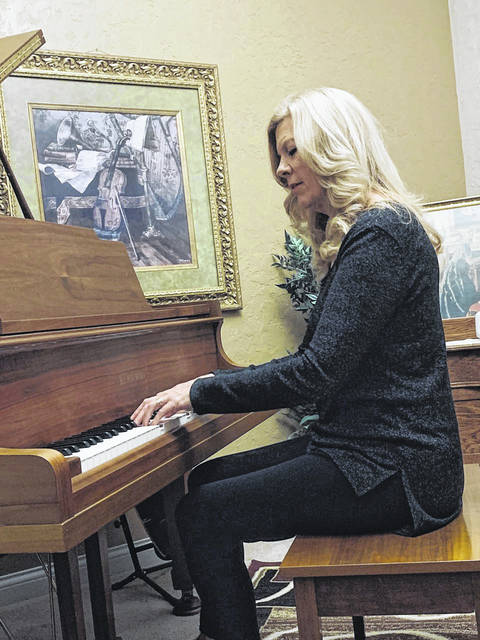 Marie Daugherty is a retired music teacher who continues to teach piano lessons, perform, compose, and attend concerts.