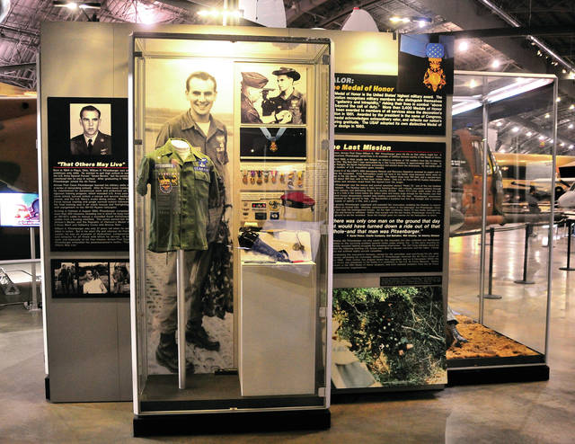 """A display at the National Museum of the United States Air Force honoring Piqua native William H. Pitsenbarger stands as the """"centerpiece"""" amid the story of men of United States Air Force Pararescue teams, at the museum. The Piqua community is readying for the kickoff of William H. Pitsenbarger week that will center around the release of the film <em>The Last Full Measure</em> to be shown at the Piqua Cinemark Cinema starting on January 24. A special premier night on January 23 will begin with a reception at the Miami Valley Centre Mall and is open to the public. Thanks to a generous donation by Hartzell Propeller, veterans and a guest who wish to see the premier on January 23, may pick up tickets at no charge at the Piqua Board of Education offices on Looney Road, beginning Friday at 8 a.m. Quantites of veteran tickets are limited and avaiable on a first-come, first-served basis."""