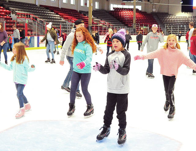 Skaters filled Troy's Hobart Arena on Tuesday, closing out 2019 with the last family open skate session of the year. ©2019 Miami Valley Today. All rights reserved