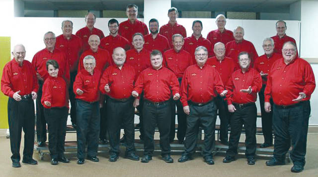 """Provided photo The Melody Men's Chorus will offer """"Singing Valentines"""" for your special someone on Valentine's Day, Friday, Feb. 14 from 10 a.m. to 6 p.m. For $35, a barbershop quartet will sing two love songs and give a rose or box of candy along with a special Valentine's Day card to the recipient. For more information or to schedule a Singing Valentine, contact Jill and Ron Ventura at (937) 606-2428."""