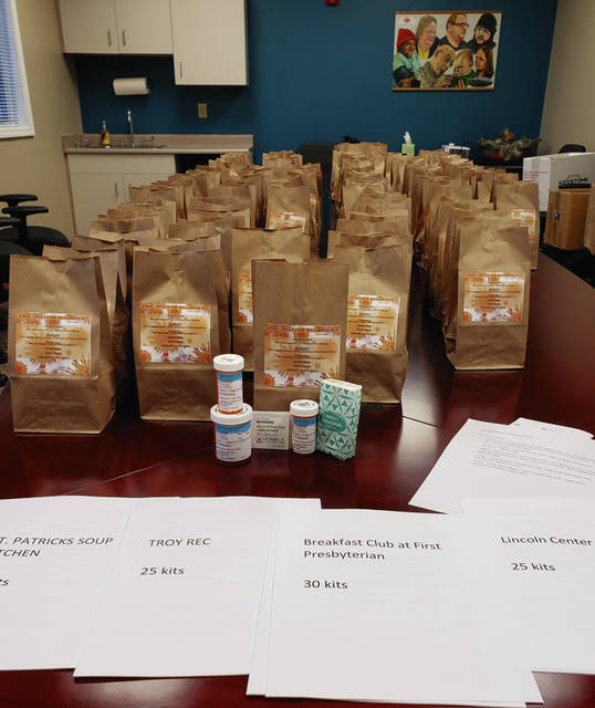Provided photoKits will include a week's supply of Tylenol, over the counter Mucinex, an over the counter antihistamine, alcohol wipes, and tissues. Additionally, included is information on self-care if one suspects they have a virus, including COVID-19.