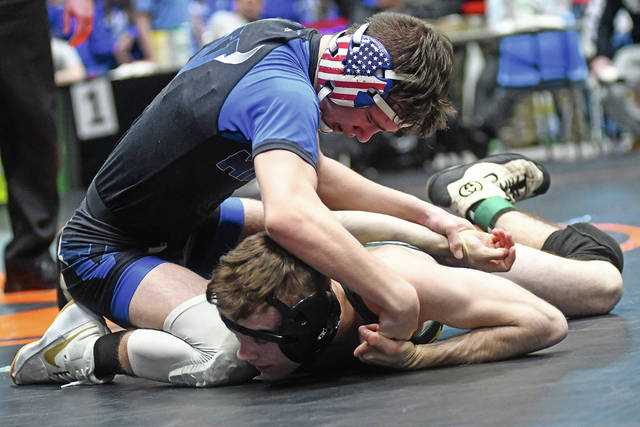 Ben Robinson|GoBuccs.com Miami East 106-pounder Cooper Shore is ready to make his state tournament debut.