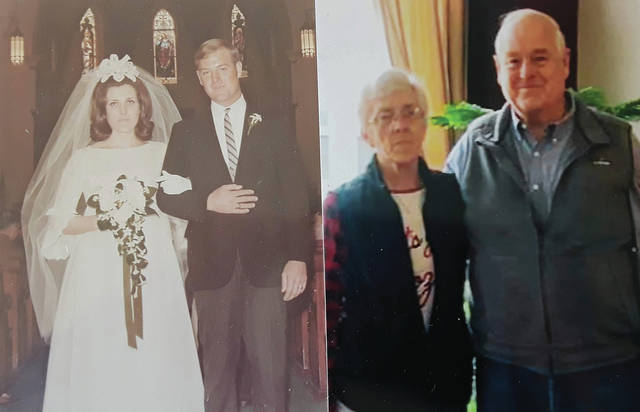 Gary and Shirley Anderson married on April 25,1970 at St. Boniface Catholic Church, Piqua.