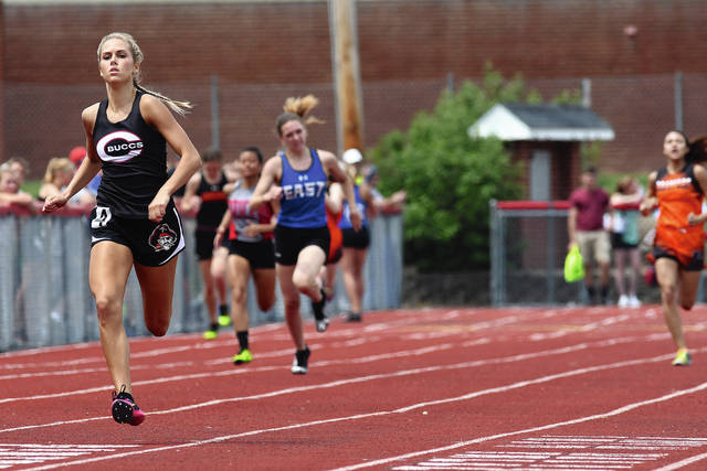 MVT File Photo Former Covington state champion Rayna Horner is excelling in the classroom and on the track for the University of Toledo