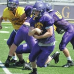 Bellbrook flying behind O-line