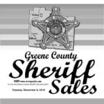 Greene Co. Sheriff Sale: December 6, 2016