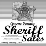 Greene Co. Sheriff Sales: Feb. 7, 2017