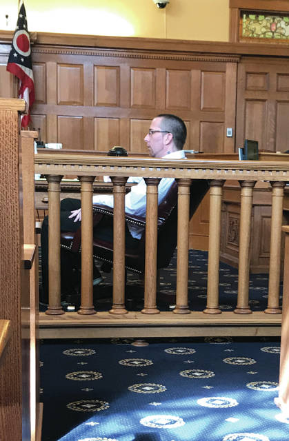 Anna Bolton | Greene County News Defendant Steven Blackson listens to testimony during the second day of trial. A few hours later he was found guilty of rape and sexual battery.