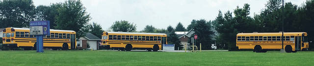 Submitted photo New bus routes caused a few issues on opening day. But they didn't cause any issues inside the classrooms.