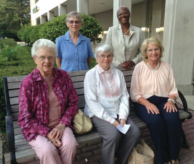 Submitted photo This year's Greene County Women's Hall of Fame honorees are (seated, left to right) Jo Ferguson, Joan Horn, Virginia Pinkerton and (standing, left to right) Jane Alkire and Cheryl Marcus.